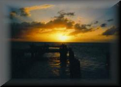 Nice Sunset in Barbados in 1986
