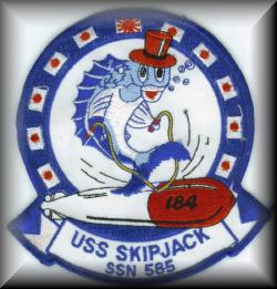 SS-184 / SSN-585 Patch, 1987